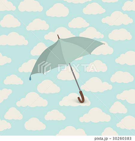 Cloud pattern, umbrella. Sky seamless background 30260383