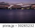 東京ゲートブリッジ ライトアップ 橋の写真 30265232
