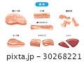 豚肉 肉 セットのイラスト 30268221