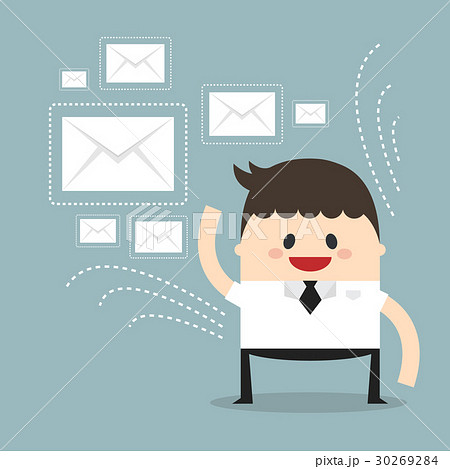 Businessman sending messages 30269284