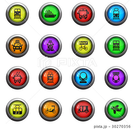 public transport icon set 30270356