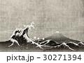 和風背景素材 大波と富士山 30271394