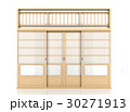 Wooden traditional Japanese Shoji door isolated  30271913