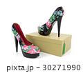 Female high heeled shoes isolated on shoe box  30271990