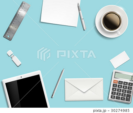 Blank office desk background.のイラスト素材 [30274985] - PIXTA