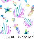 透明水彩 水彩画 海のイラスト 30282187