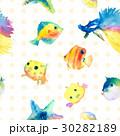透明水彩 水彩画 海のイラスト 30282189