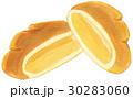 手描き 水彩 クリームパン 30283060
