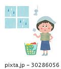 主婦 女性 洗濯のイラスト 30286056