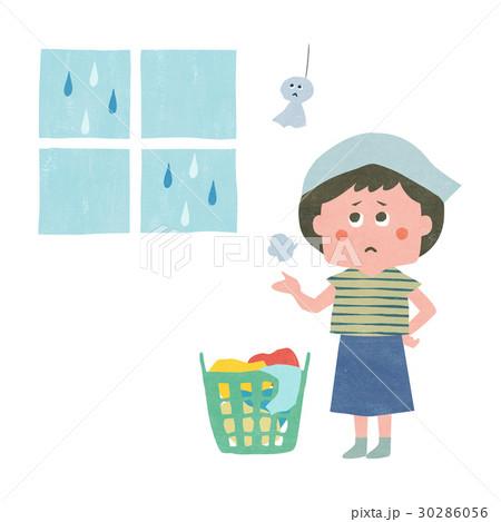 雨で困ったお洗濯 30286056