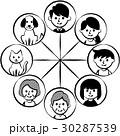 家族 三世代 つながりのイラスト 30287539