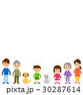 家族 三世代 横一列のイラスト 30287614