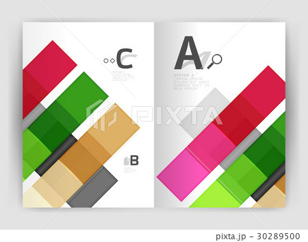 Geometrical brochure a4 business templateのイラスト素材 [30289500] - PIXTA