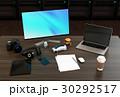 映像編集デザイナーのデスクトップのイメージ。背景にレンダリング専用サーバーが置かれている。 30292517