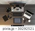 クリエイターのデスクトップの俯瞰イメージ 30292521