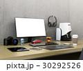 コピースペース付きのモニターと3Dスキャナー、一眼レフ、プロダクトデザイナーのワークスペース。 30292526