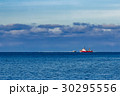 Red fishing ship 30295556