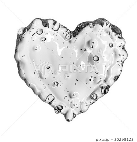 Heart from water splash with bubbles isolated onのイラスト素材 [30298123] - PIXTA