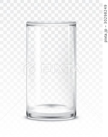 Vector illustration of empty glass cupのイラスト素材 [30298249] - PIXTA