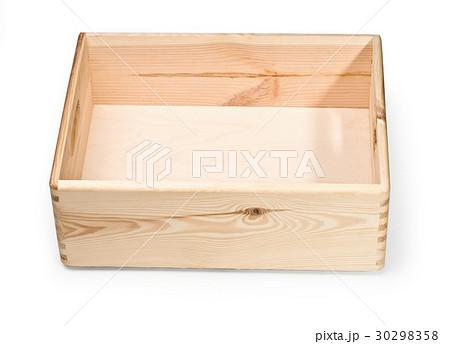 empty wooden crate isolated on whiteの写真素材 [30298358] - PIXTA