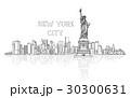 アメリカ 新 新しいのイラスト 30300631