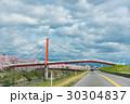 桜 道路 空の写真 30304837