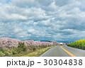 桜 道路 空の写真 30304838