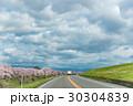 桜 道路 空の写真 30304839