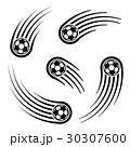 ボール 球 サッカーのイラスト 30307600