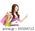 女性 ショッピング 買い物の写真 30309712