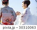 野点を愉しむ日本人女性と外国人女性 30310063