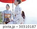 野点を愉しむ日本人女性と外国人女性 30310187