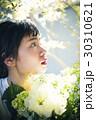 花 女性ポートレート イノセント 30310621