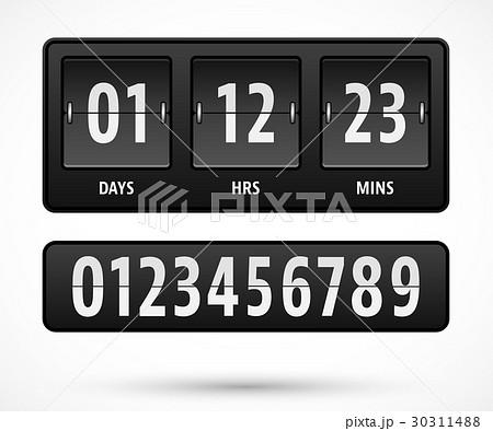 countdown timer templateのイラスト素材 30311488 pixta