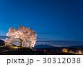 山梨 わに塚の満開の桜 ライトアップの桜 30312038