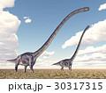 恐竜 絶滅した 動物のイラスト 30317315