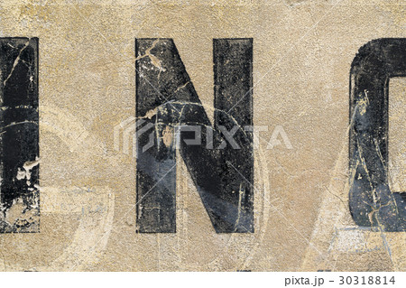 vintage letters on a wall for backgroundsの写真素材 [30318814] - PIXTA