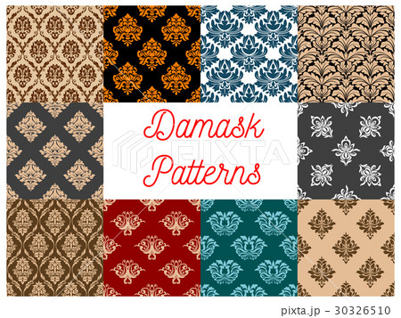 Damask seamless floral pattern backgroundのイラスト素材 [30326510] - PIXTA