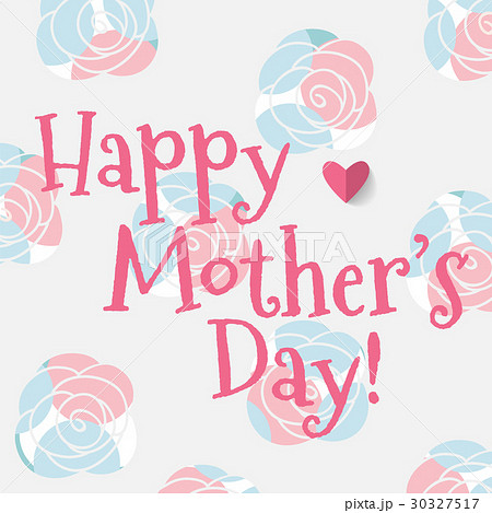 happy mother s day vector illustrationのイラスト素材 30327517 pixta