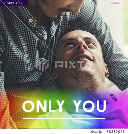 Gay Couple Amorous Enamored Foreverの写真素材 [30332066] - PIXTA