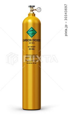 Liquefied carbon dioxide industrial gas cylinderのイラスト素材 [30343697] - PIXTA