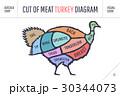 潰す 肉 ベクトルのイラスト 30344073