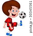 マンガ 漫画 サッカーのイラスト 30345561