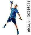 handball player teenager boy isolated 30346041