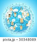 ソーシャル グローバル ベクタのイラスト 30348089