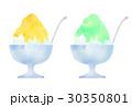かき氷 氷菓 レモン味のイラスト 30350801