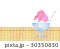 かき氷 氷菓 いちご味のイラスト 30350830