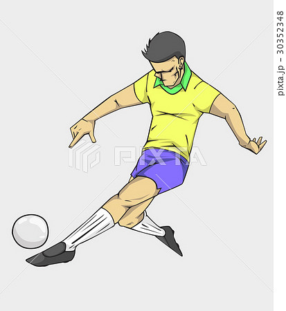 soccer player action kick the ball. 30352348