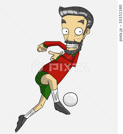 soccer player action kick the ball. 30352380