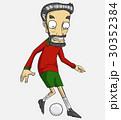 サッカー ベクトル 少年のイラスト 30352384